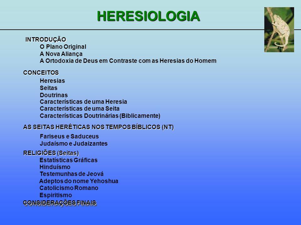 INTRODUÇÃOO Plano Original. A Nova Aliança. A Ortodoxia de Deus em Contraste com as Heresias do Homem.