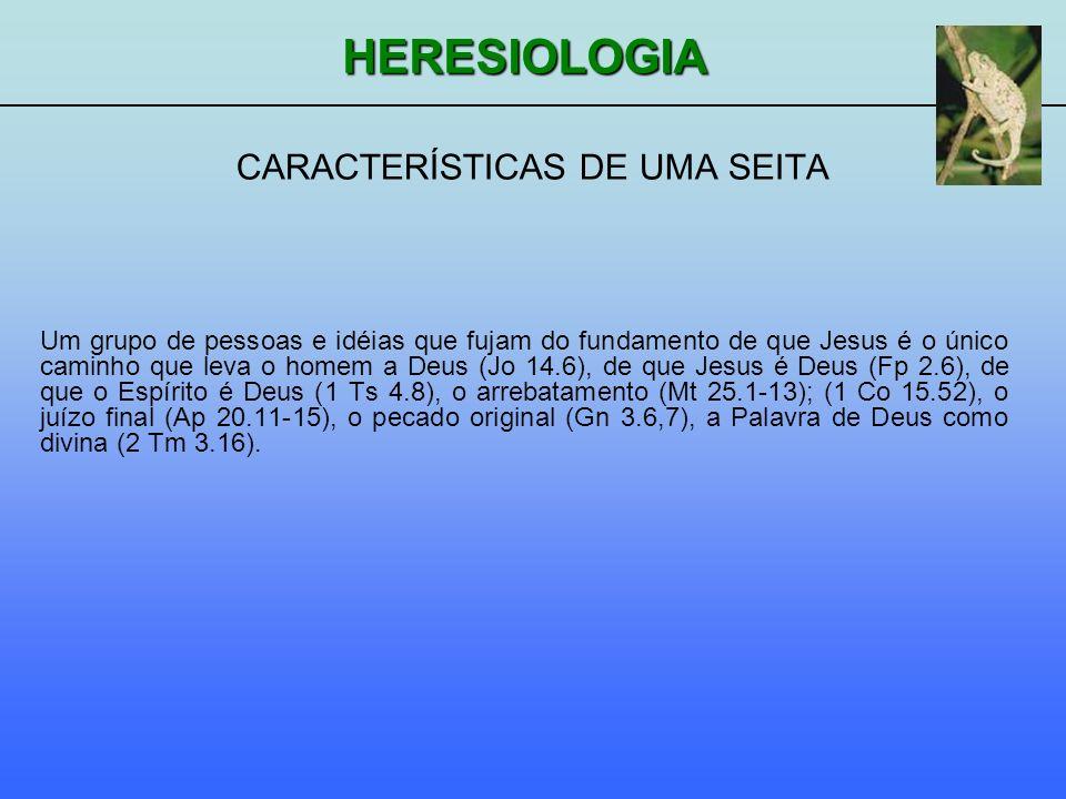 CARACTERÍSTICAS DE UMA SEITA
