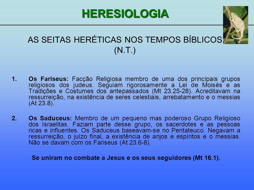 AS SEITAS HERÉTICAS NOS TEMPOS BÍBLICOS (N.T.)