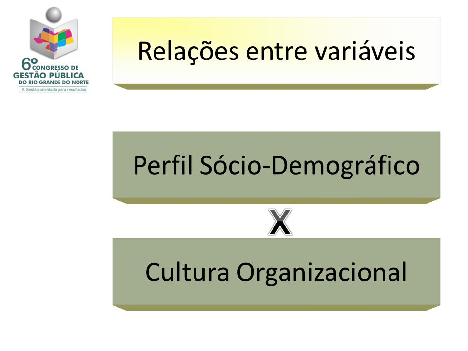 X Relações entre variáveis Perfil Sócio-Demográfico