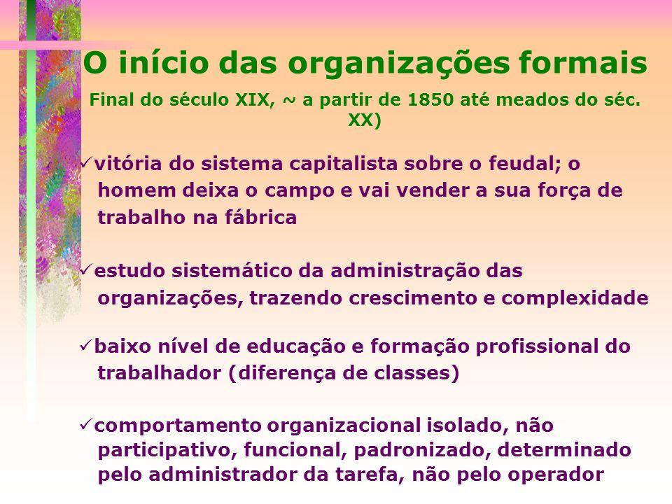 O início das organizações formais