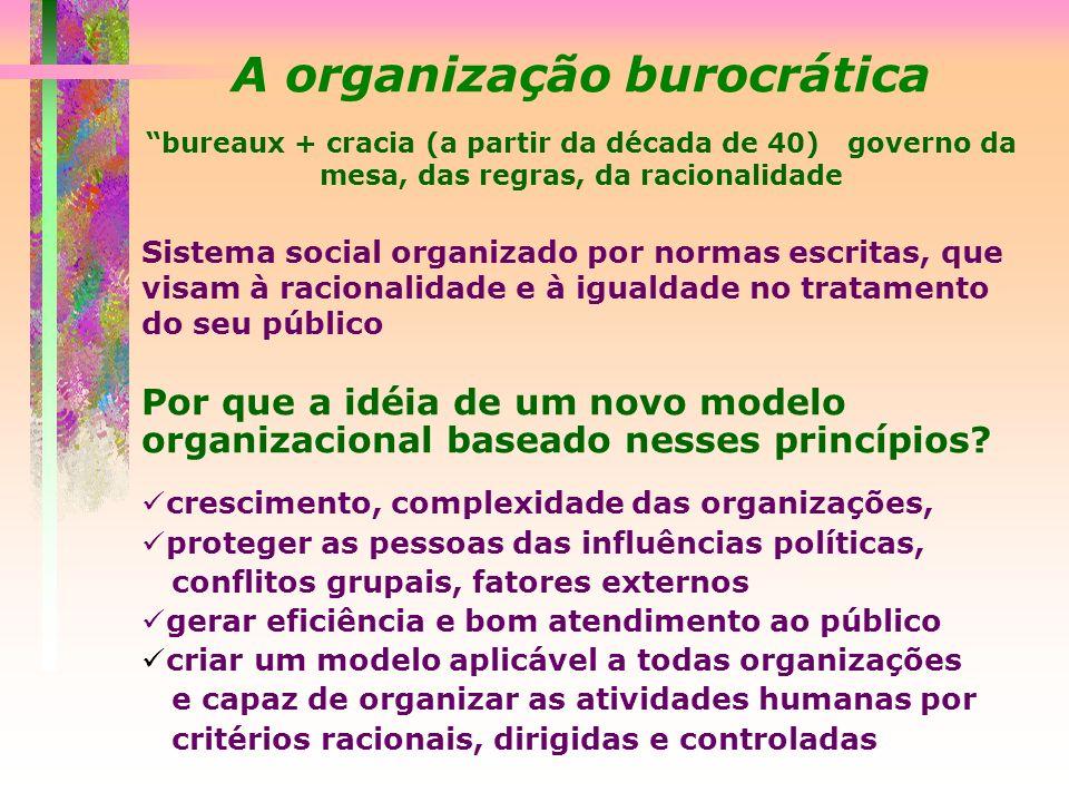 A organização burocrática