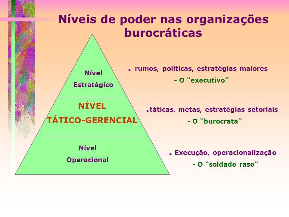 Níveis de poder nas organizações burocráticas