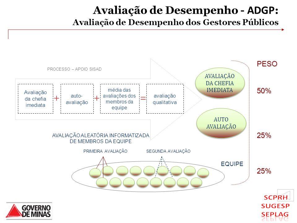Avaliação de Desempenho - ADGP: Avaliação de Desempenho dos Gestores Públicos