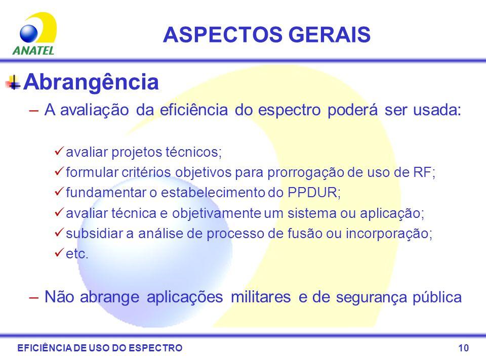 Abrangência ASPECTOS GERAIS