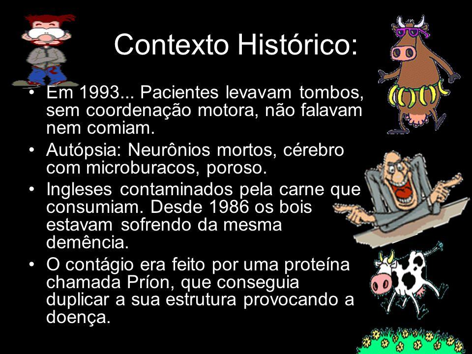 Contexto Histórico: Em 1993... Pacientes levavam tombos, sem coordenação motora, não falavam nem comiam.