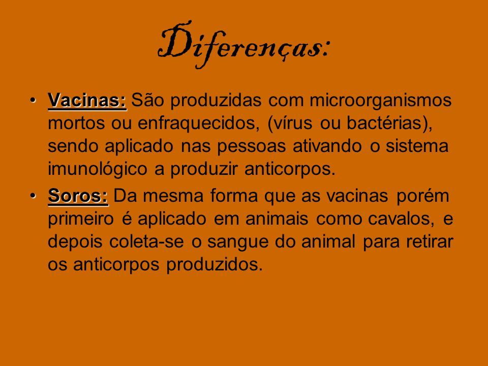 Diferenças: