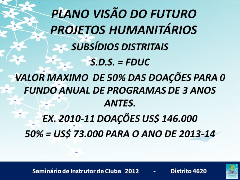 PLANO VISÃO DO FUTURO PROJETOS HUMANITÁRIOS