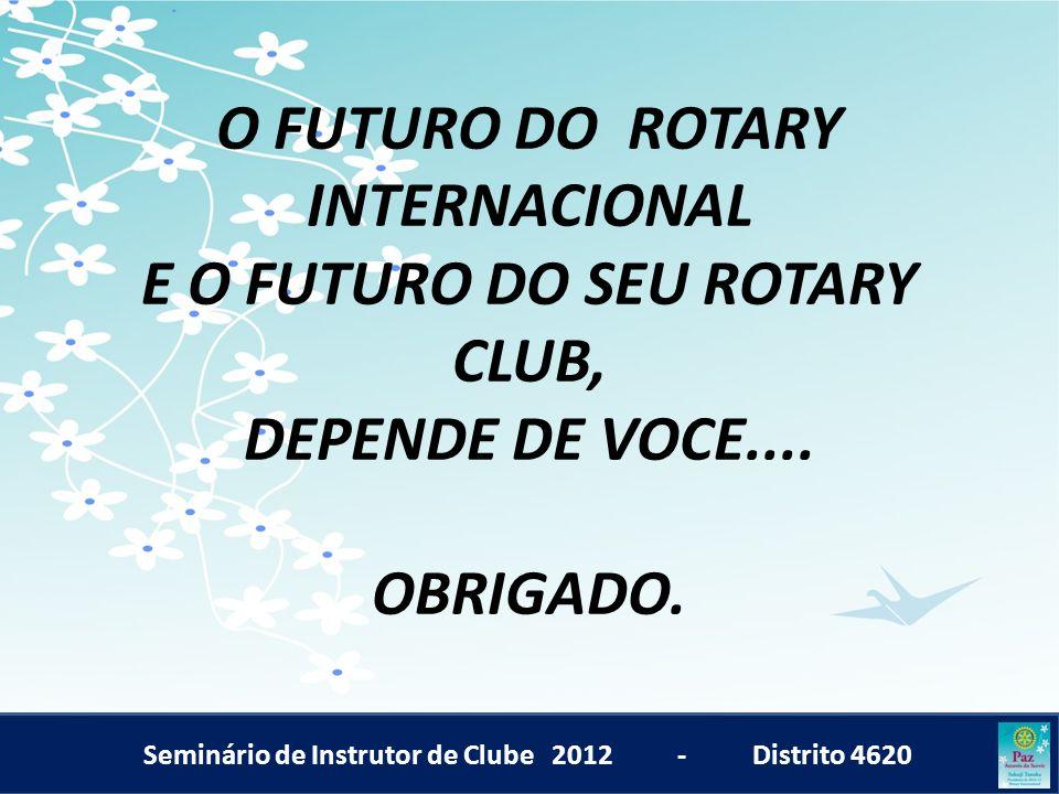 O FUTURO DO ROTARY INTERNACIONAL E O FUTURO DO SEU ROTARY CLUB, DEPENDE DE VOCE.... OBRIGADO.