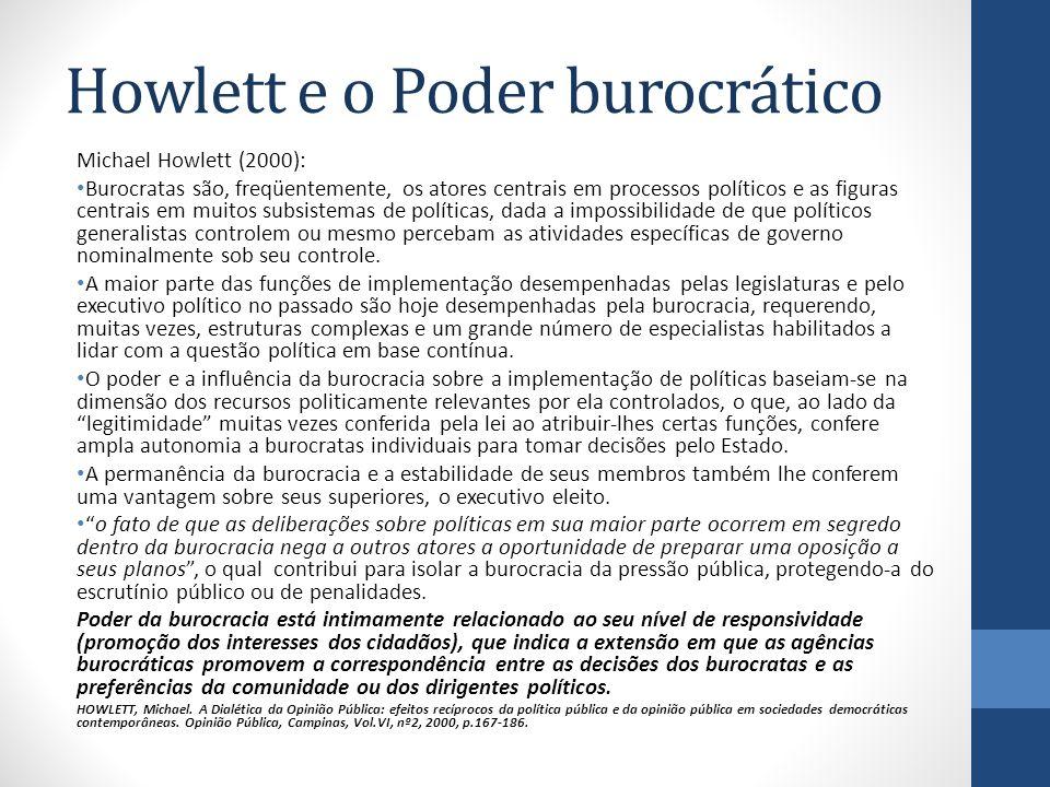 Howlett e o Poder burocrático