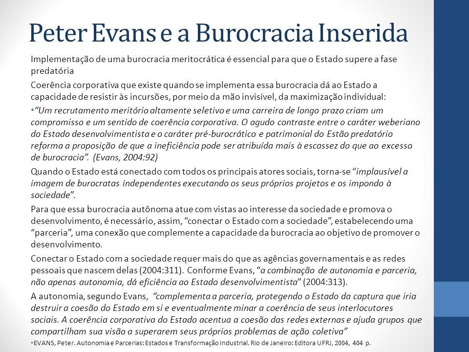 Peter Evans e a Burocracia Inserida