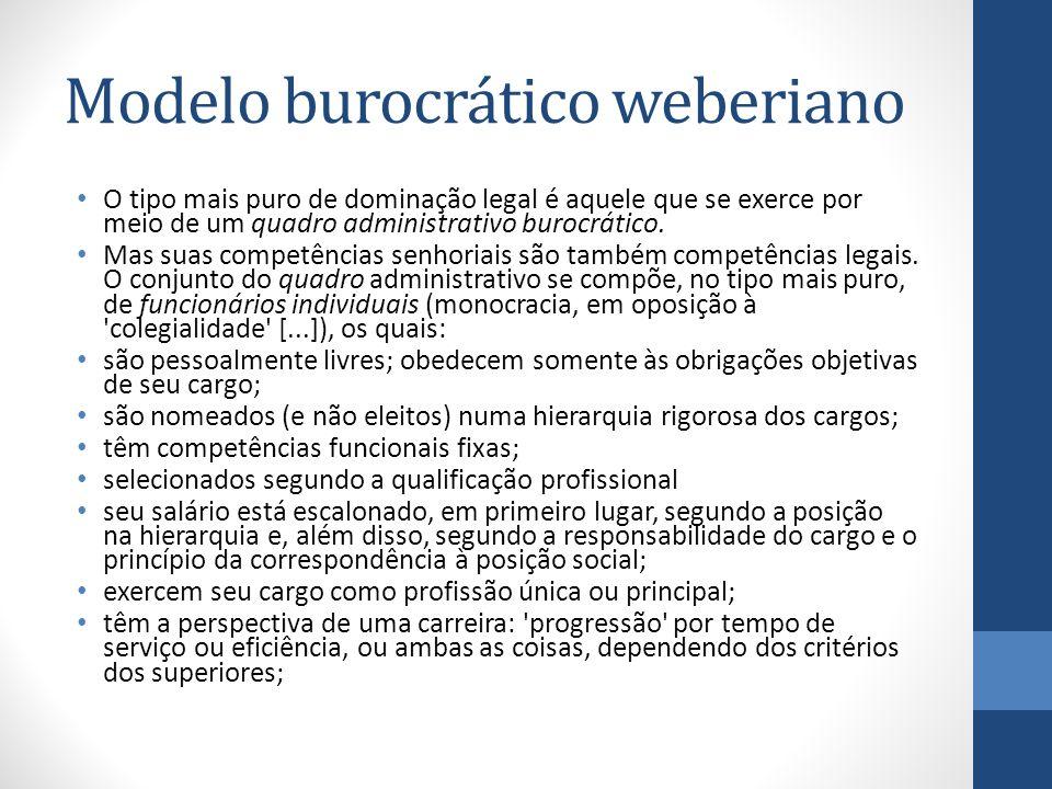 Modelo burocrático weberiano