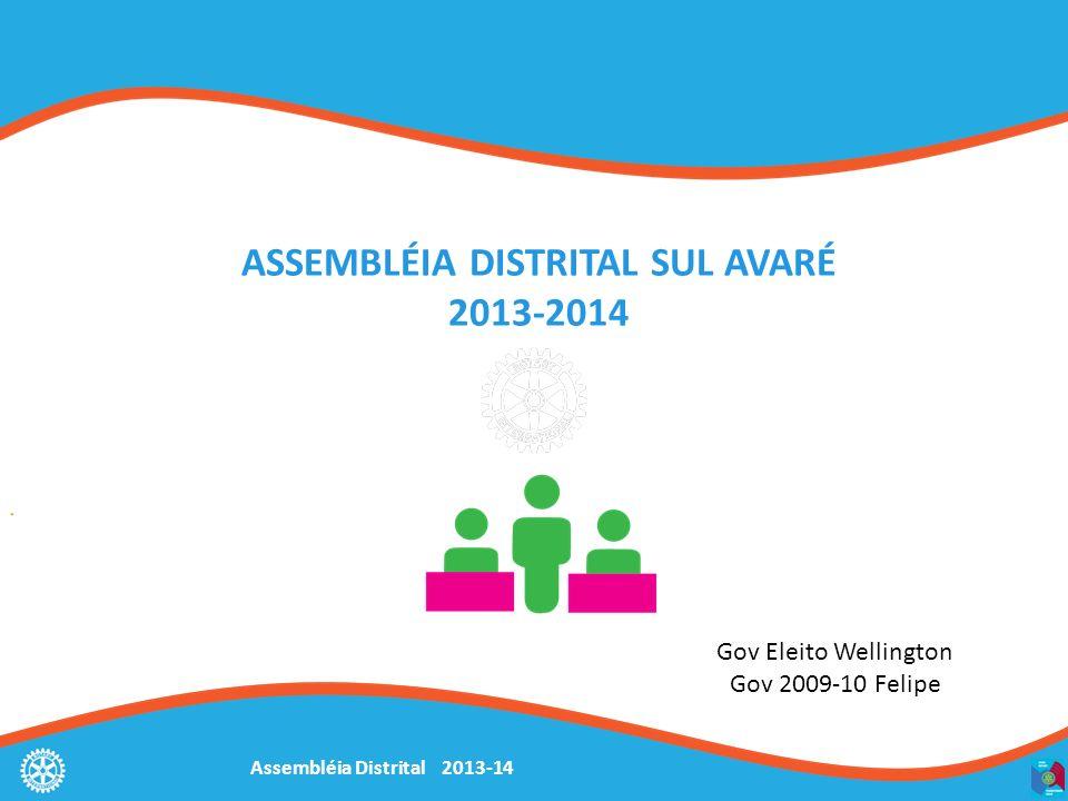ASSEMBLÉIA DISTRITAL SUL AVARÉ 2013-2014