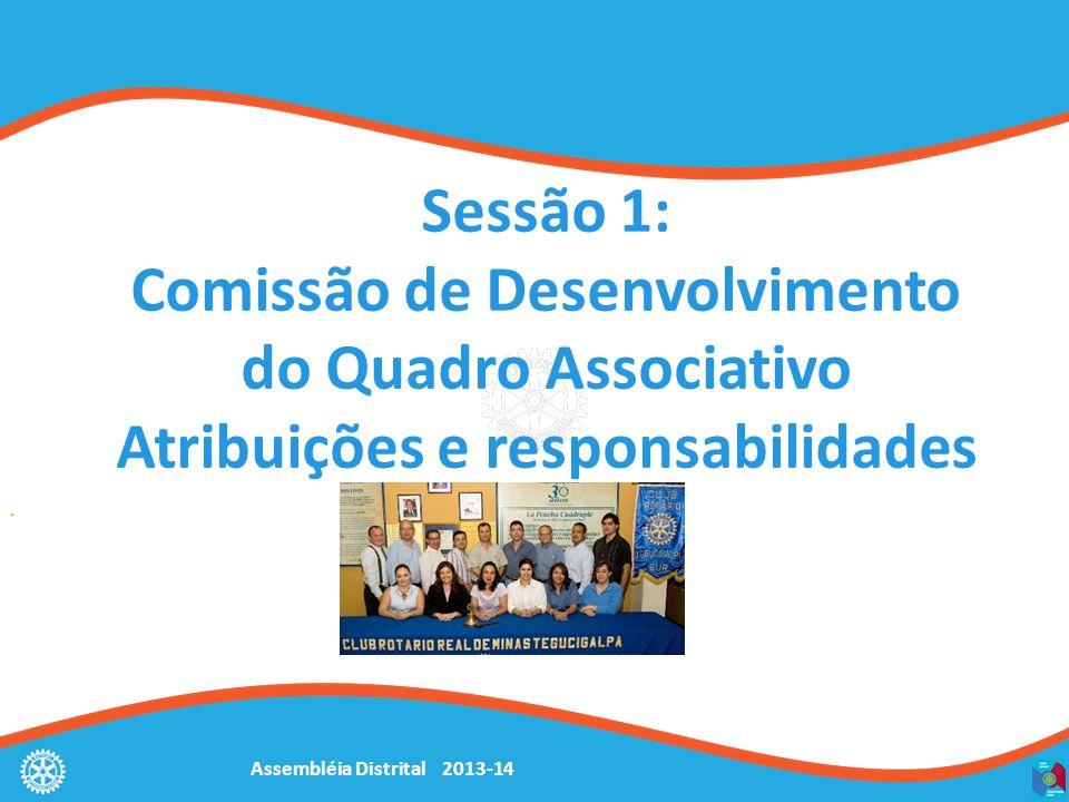Sessão 1: Comissão de Desenvolvimento do Quadro Associativo Atribuições e responsabilidades