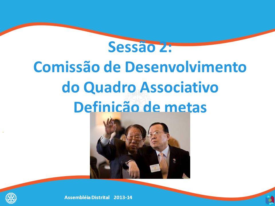 Sessão 2: Comissão de Desenvolvimento do Quadro Associativo Definição de metas