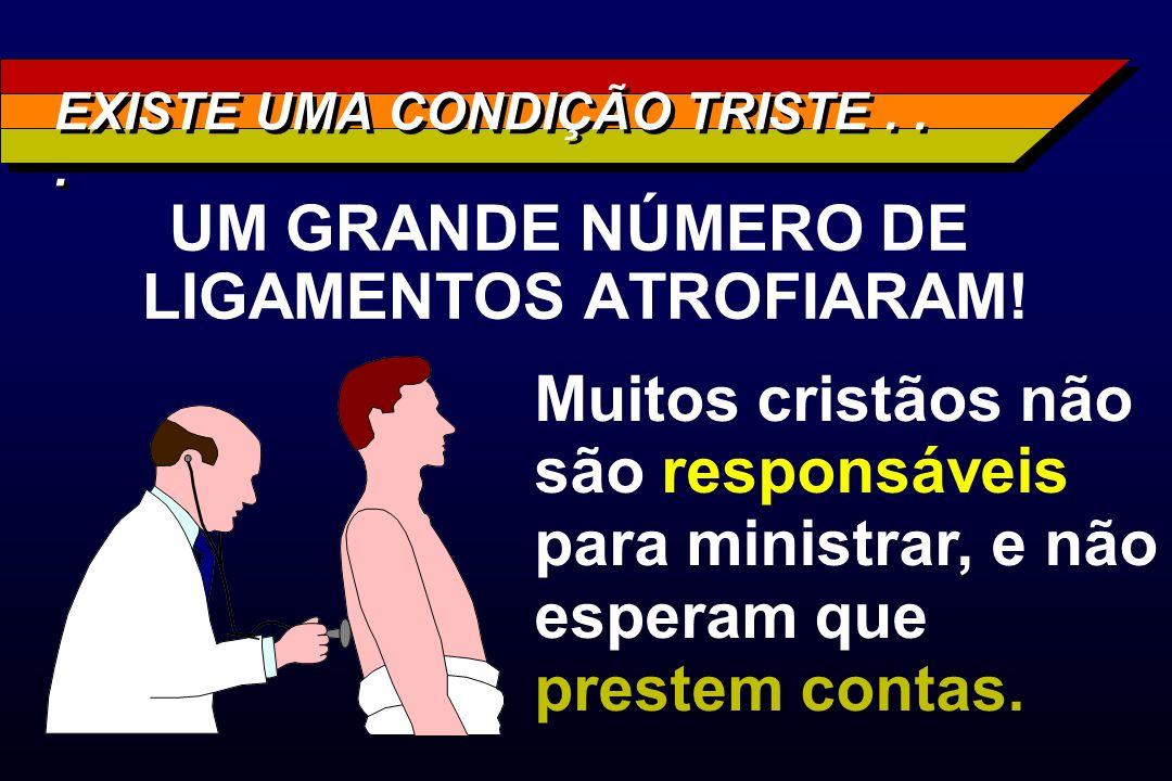 EXISTE UMA CONDIÇÃO TRISTE . . .