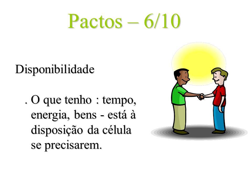 Pactos – 6/10 Disponibilidade .