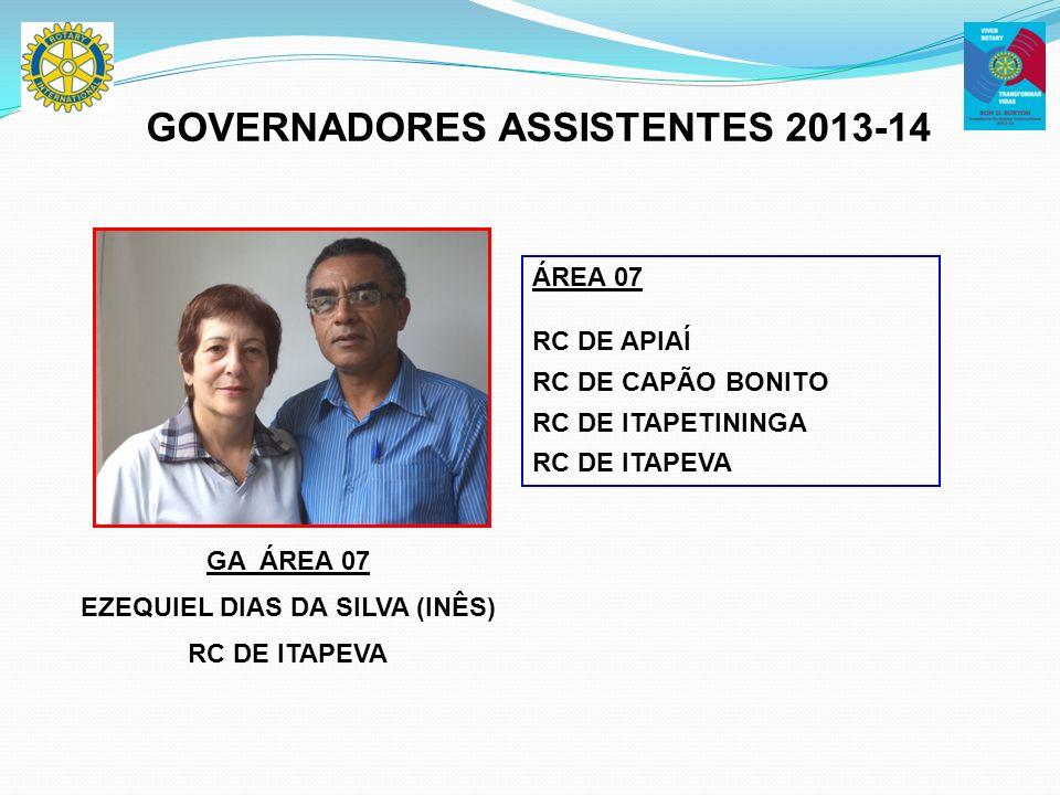 GOVERNADORES ASSISTENTES 2013-14 EZEQUIEL DIAS DA SILVA (INÊS)