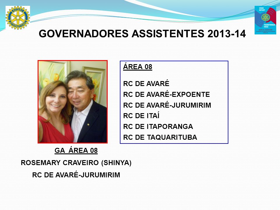 GOVERNADORES ASSISTENTES 2013-14 ROSEMARY CRAVEIRO (SHINYA)