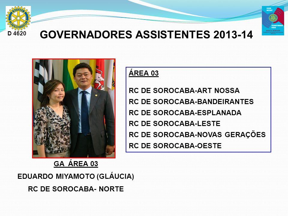 GOVERNADORES ASSISTENTES 2013-14 EDUARDO MIYAMOTO (GLÁUCIA)
