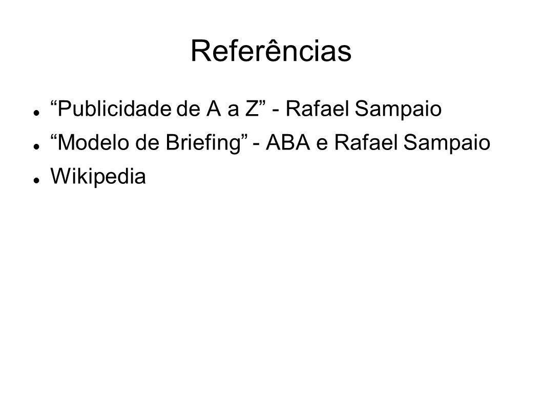 Referências Publicidade de A a Z - Rafael Sampaio