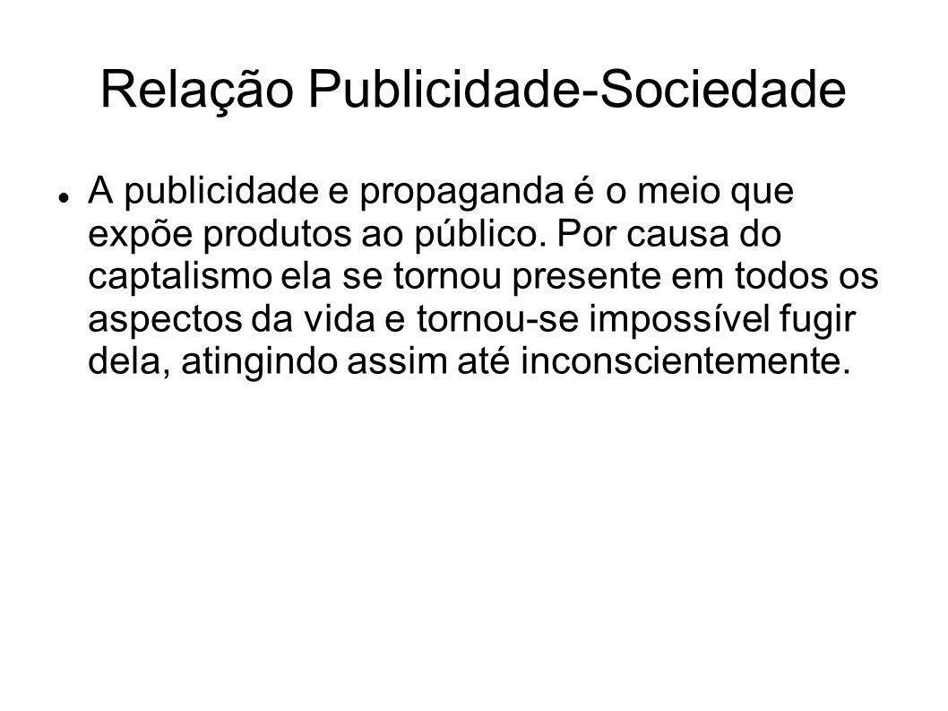 Relação Publicidade-Sociedade