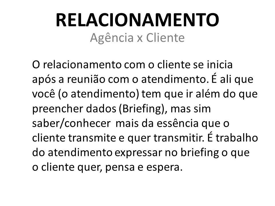 Relacionamento Agência x Cliente