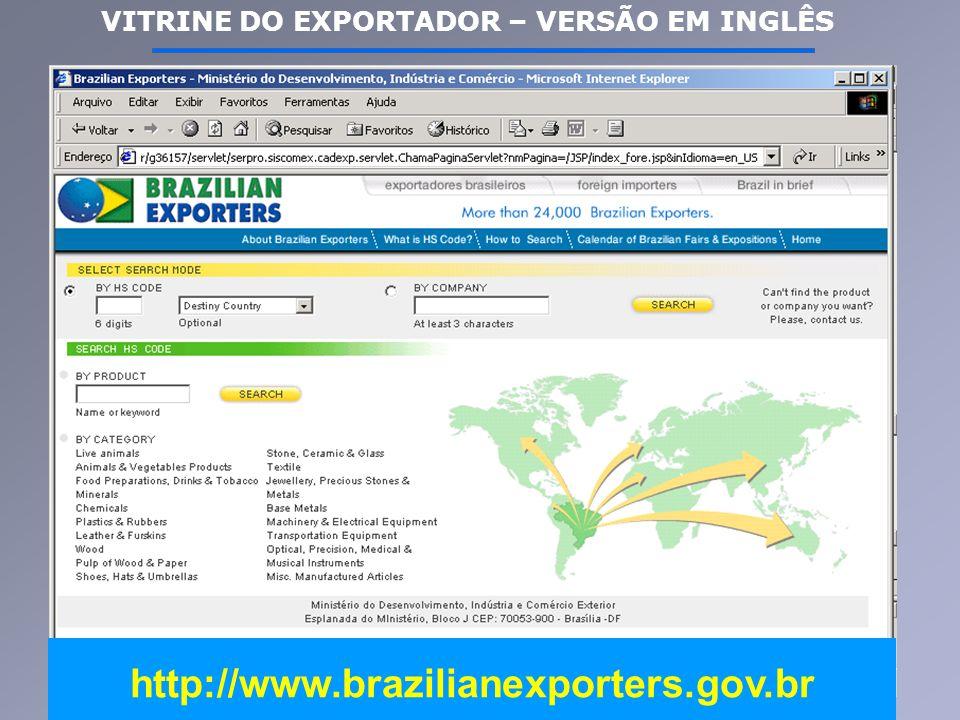 VITRINE DO EXPORTADOR – VERSÃO EM INGLÊS