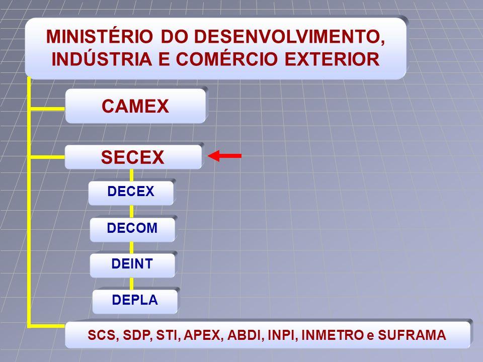 MINISTÉRIO DO DESENVOLVIMENTO, INDÚSTRIA E COMÉRCIO EXTERIOR