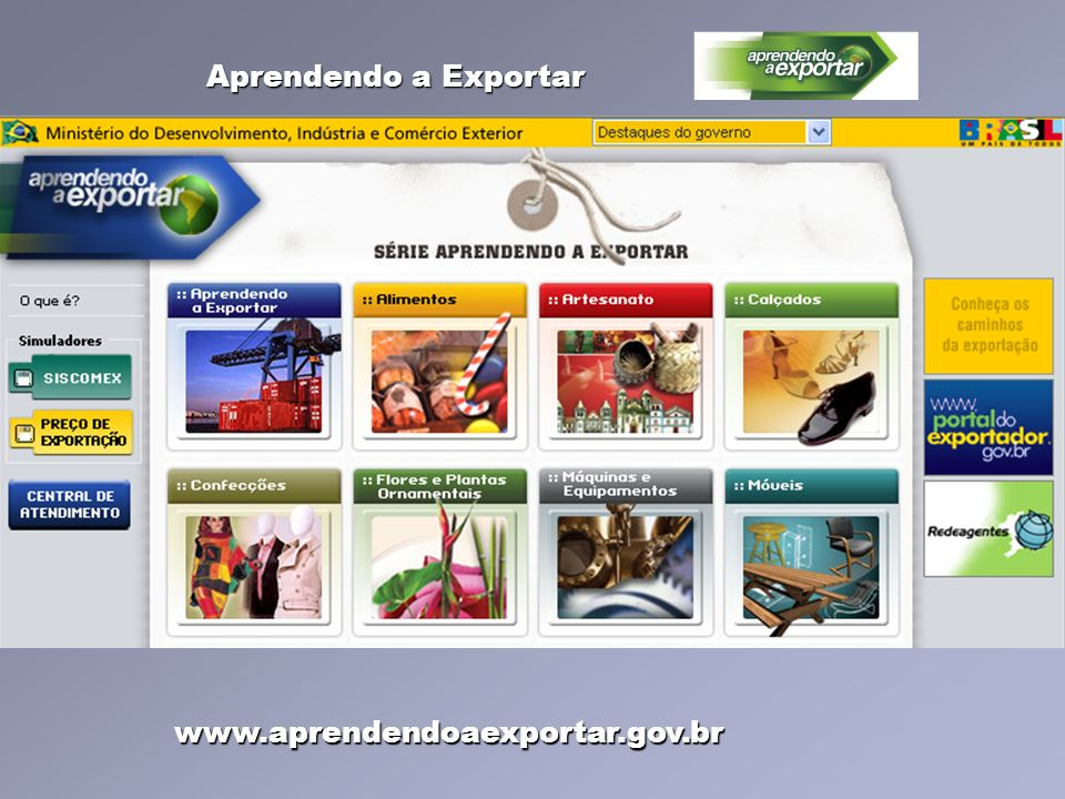 Aprendendo a Exportar www.aprendendoaexportar.gov.br