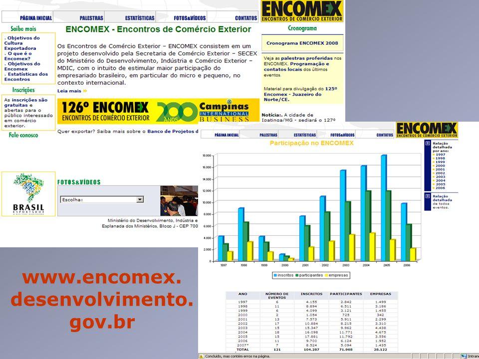 www.encomex. desenvolvimento.gov.br