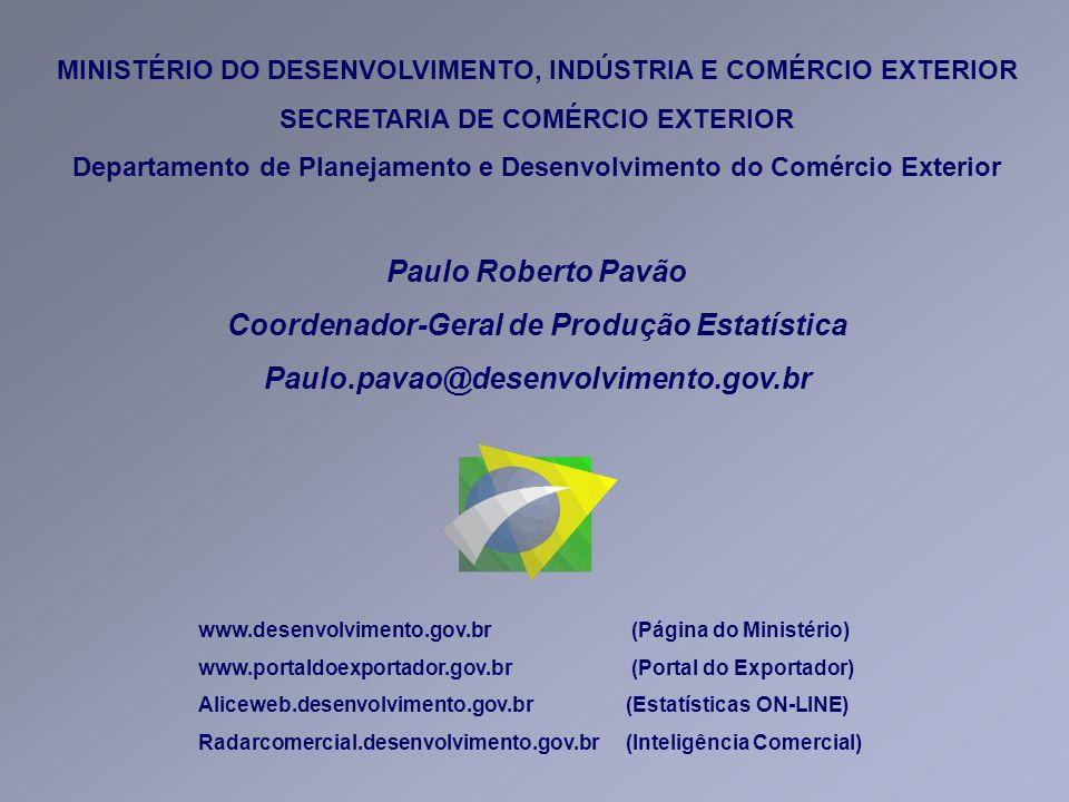 Coordenador-Geral de Produção Estatística