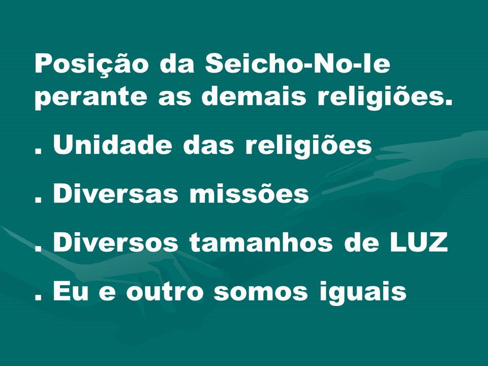 Posição da Seicho-No-Ie perante as demais religiões.