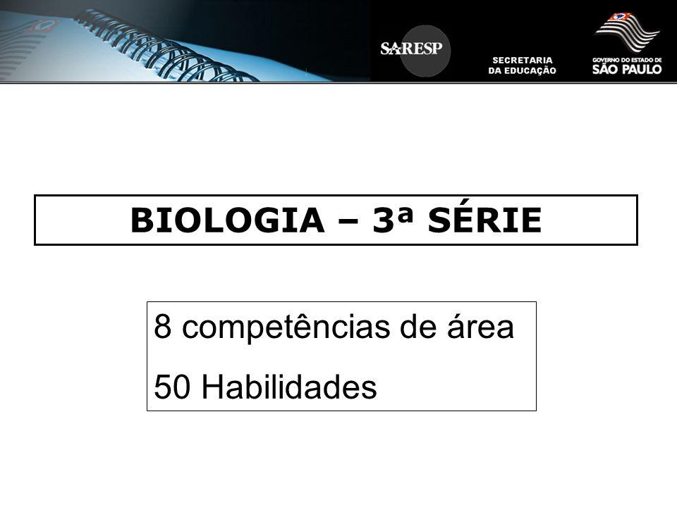 BIOLOGIA – 3ª SÉRIE 8 competências de área 50 Habilidades 1