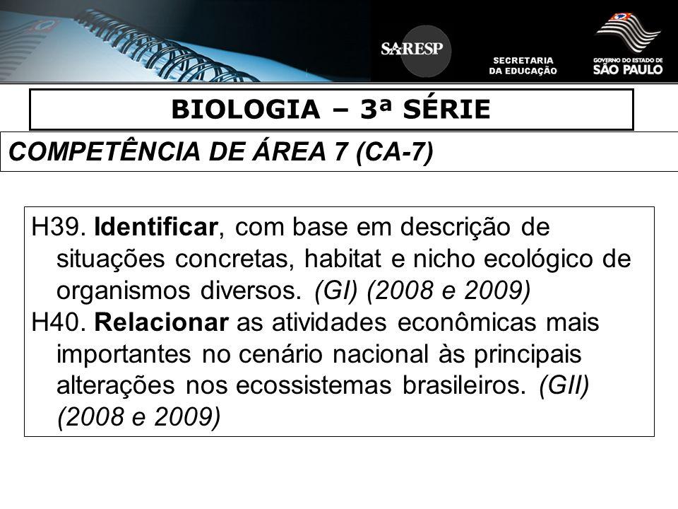 COMPETÊNCIA DE ÁREA 7 (CA-7)