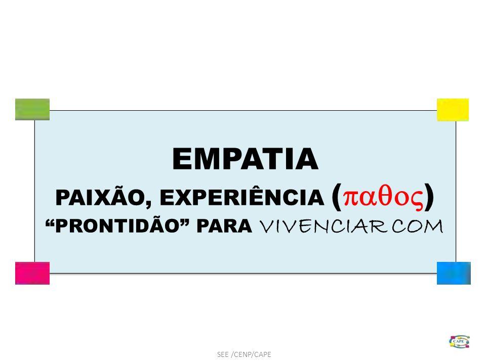 PAIXÃO, EXPERIÊNCIA () PRONTIDÃO PARA VIVENCIAR COM