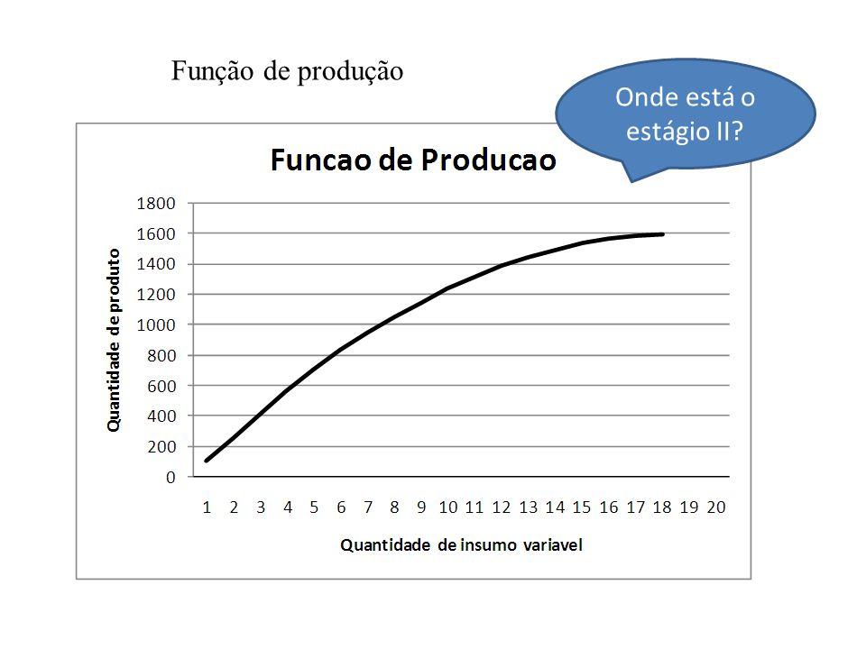 Função de produção Onde está o estágio II