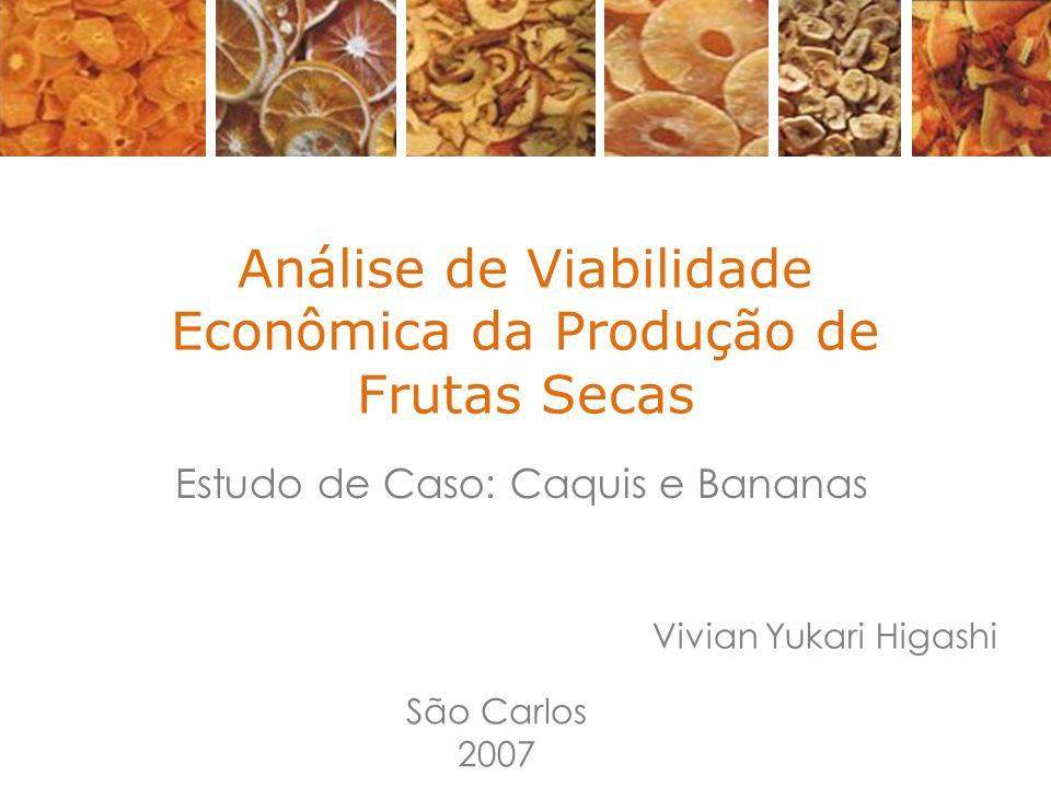 Análise de Viabilidade Econômica da Produção de Frutas Secas