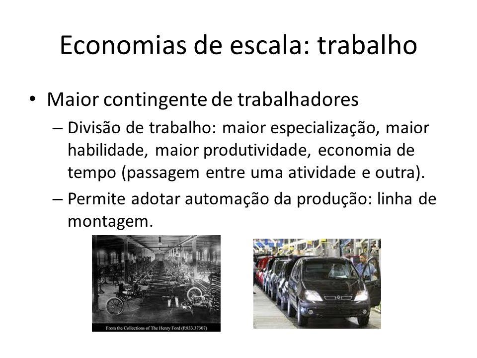 Economias de escala: trabalho