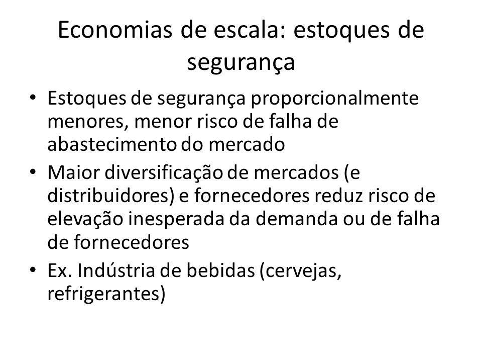 Economias de escala: estoques de segurança
