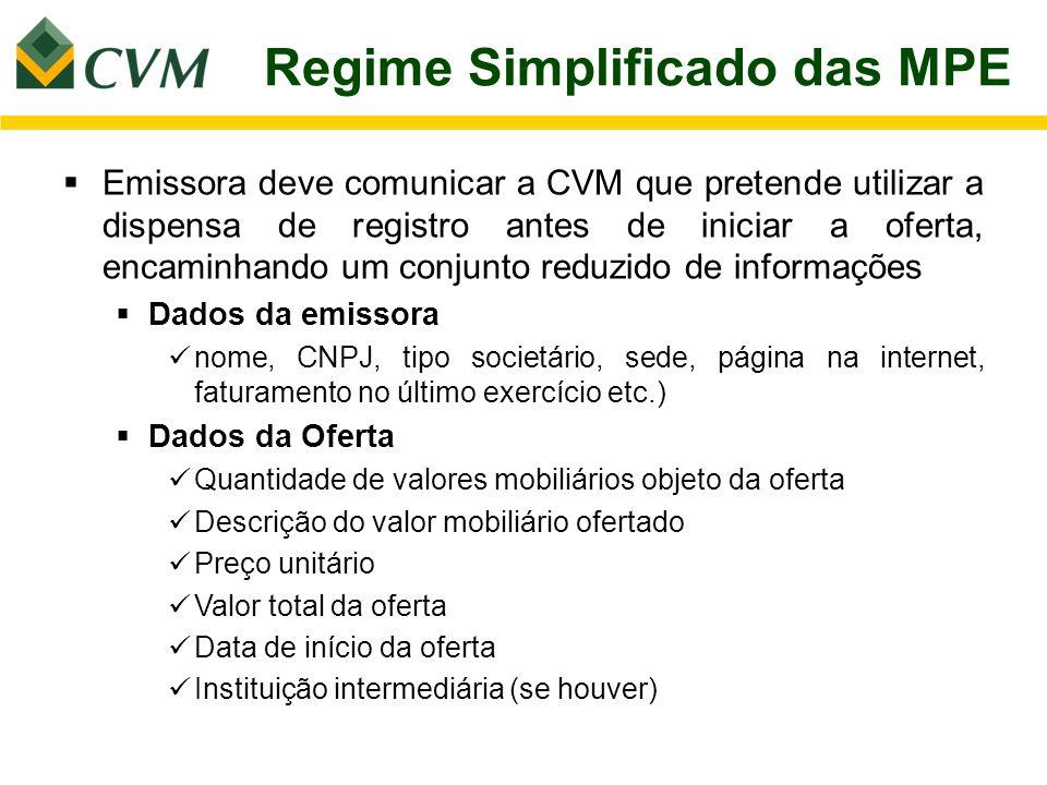Regime Simplificado das MPE