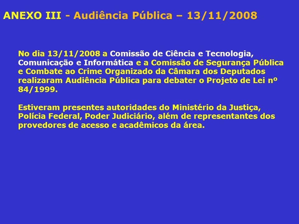 ANEXO III - Audiência Pública – 13/11/2008