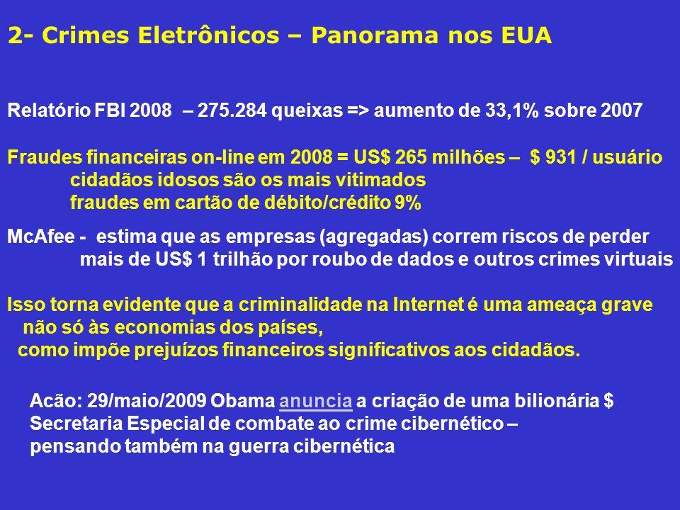 2- Crimes Eletrônicos – Panorama nos EUA