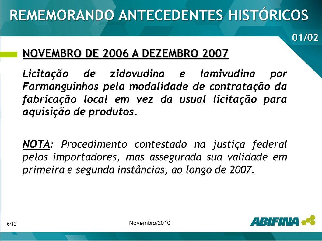 REMEMORANDO ANTECEDENTES HISTÓRICOS