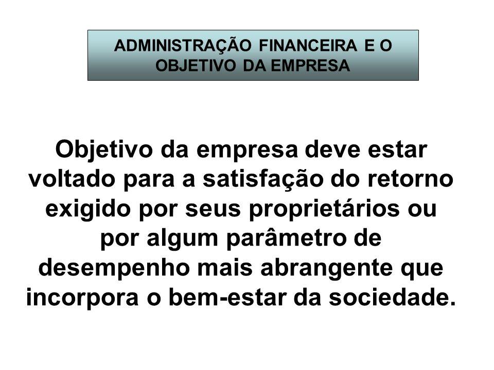 ADMINISTRAÇÃO FINANCEIRA E O