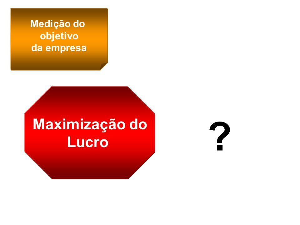 Medição do objetivo da empresa Maximização do Lucro