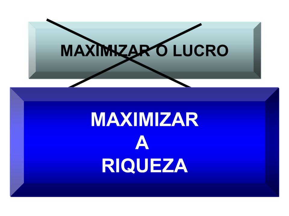 MAXIMIZAR O LUCRO MAXIMIZAR A RIQUEZA