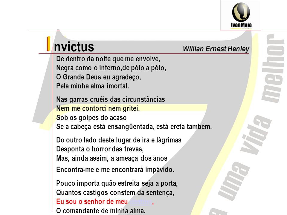 I nvictus I Willian Ernest Henley