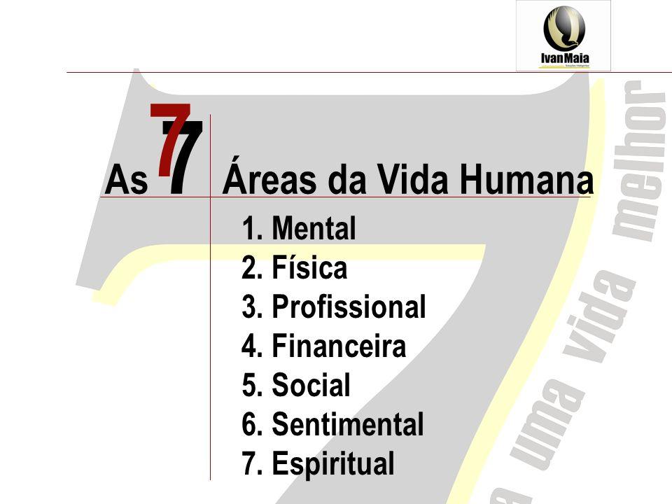 7 As 7 Áreas da Vida Humana 1. Mental 2. Física 3. Profissional