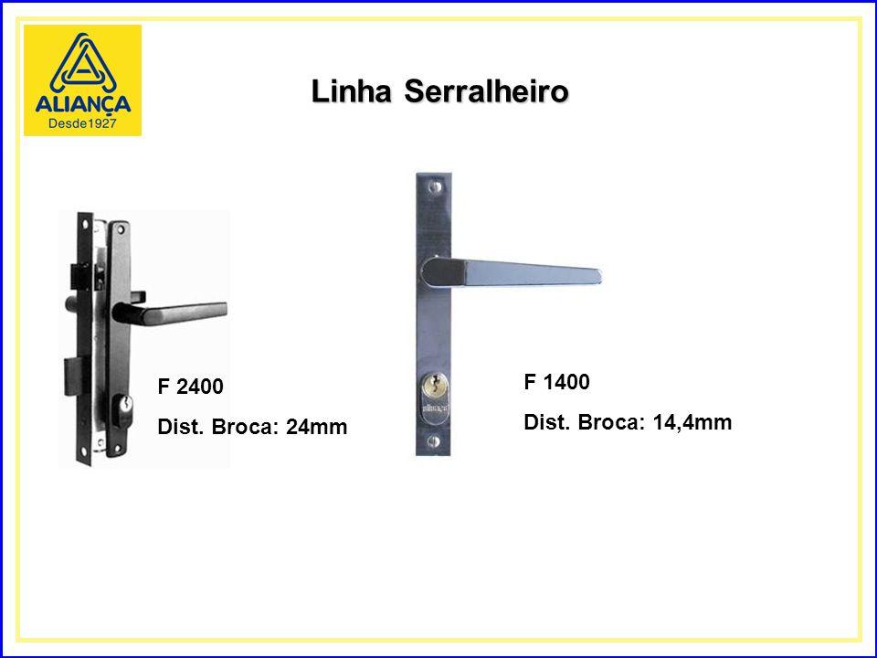 Linha Serralheiro F 2400 Dist. Broca: 24mm F 1400 Dist. Broca: 14,4mm